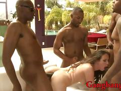 Slutty babe casey calvert gets pounded in every holes