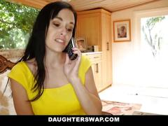 Daughterswap - lesbians teens get swapped and licked by moms