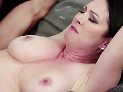 rayveness, ashley adams, brunette, blowjob, riding, doggystyle, cumshot, share, threesome, ffm, cowgirl, sucking