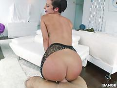 Big ass booty babe jada stevens bouncing on top