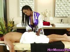 Ebony masseuses juggs cum