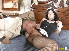 Smokin' hot maid stracy stone gets bonked