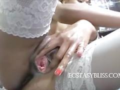 Cute ebony anal dildo