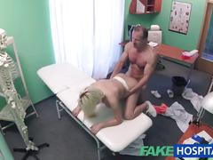 blonde, reality, euro, fakehospital, amateur, spycam, fake-hospital, hospital, doctor, uniform, orgasm, blowjob, cumshot, hardcore, hd, clinic