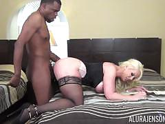 alura jenson, blowjob, doggystyle, cumshot, ride, balls deep, black cock, cumming, bbc