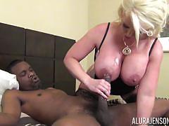 alura jenson, blowjob, doggystyle, cumshot, ride, balls deep, black cock, cumming, bbc