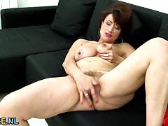 brunette, masturbation, fingering, solo, european, euro, hairy, mature, natural tits, amateur, hairy pussy