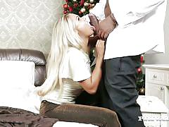 Blonde beauty barra brass gets a big black cock