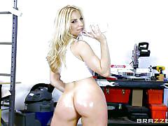 milf, blonde, big ass, blowjob, ass fingering, oiled, big dick, big wet butts, brazzers network, ashley fires, danny d