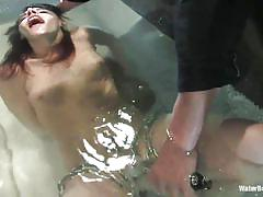 milf, breath play, chains, water bdsm, in water, water bondage, kink, dana dearmond
