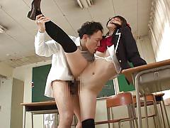 babe, glasses, hairy pussy, japanese schoolgirl, from behind, riding cock, sideways, classroom sex, asian censored, japans tinies, erito, ai uehara