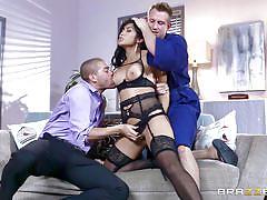 threesome, big ass, interracial, ass lick, blowjob, big boobs, sexy lingerie, asian babe, boobs groping, big butts like it big, brazzers network, xander corvus, bill bailey, mia li