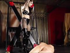 Mistress harsh whipping slave