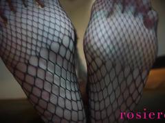 Weak for fishnet feet fetish ebony goddess rosie reed
