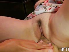 Teen with voluptuous body riding cock cowgirl style in pov