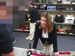 Sucking and fucking a pawnshop owner for big cash