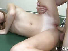 Sexy college girl bang on a ping pong table