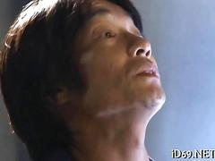 Trimmed japanese office lady getting fucked doggy style by boss