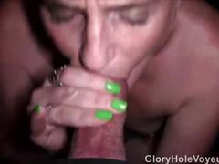 Redhead sucks pov glory hole cock