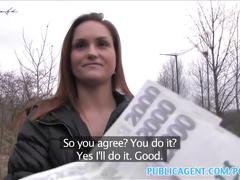 Public agent hot chick takes cash for sex
