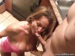 Amateur gets her mouth filled with cock