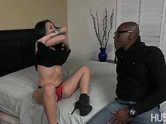 blowjob, hardcore, doggystyle, facial, blonde, interracial, small tits, oral, natural, petite, big cock