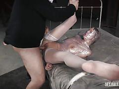 milf, threesome, bdsm, ebony, interracial, stockings, big black cock, rope bondage, plastic wrap, sexually broken, rain degrey, matt williams, jack hammerx