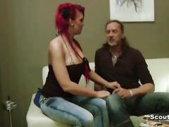 German step-dad fucks redhead daughter lexy outdoor