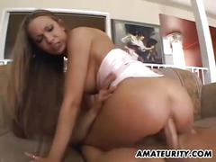 Amateur girlfriend anal fuck with huge creampie cumshot