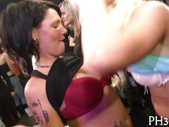Very hot group sex in club segment