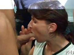 Blowing a cock and the party is so amazing