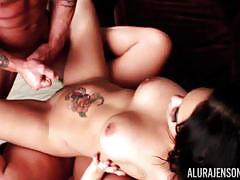 Stunning beauty rammed deep in the pussy with alura jenson