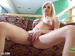 lacey leveah, blonde, masturbation, fingering, solo, cute, orgasm, skinny