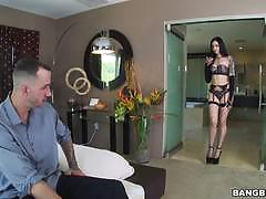 Gorgeous brunette marley brinx gets her ass stuffed