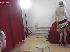 Amateur lap dancer exposes her pussy