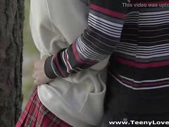 Teeny lovers - redhead teeny fucked in a park