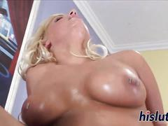 Voluptuous blonde has her orgasmic snatch rammed