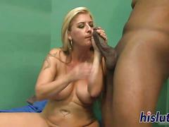 big boobs, blonde, creampie, hardcore, interracial, fucking, sucking, black