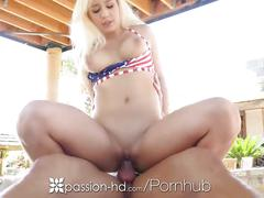 Passion-hd - kylie page and her man have their own private 4th of july bbq