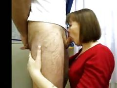 Russian wife gives amazing blowjob
