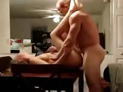 Hot unknown stud #3 mirror fuck on the table
