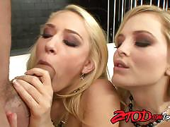 Kagney linn karter and alexis texas share this hard dick