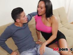 Hot latina milf fucks young guy