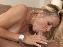 Facial for blonde milf big tits in stockings (top milf)