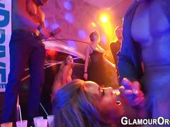 Ebony face jizz at party