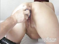 Double fisting and dildo fucking huge milf pussy
