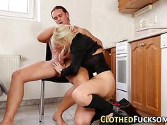 Cfnm babe gets railed