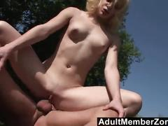 Adultmemberzone - tiny cheerleader fucked outside