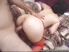 Hairy pussy japanese dildoed and fucked