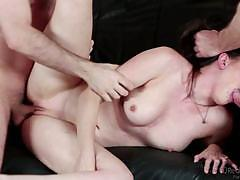 Cock craving casey calvert gets two cocks at once